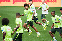 HARRISON, NJ - Friday September 4, 2015: The Brazilian National Team practices ahead of their match with Costa Rica at Red Bull Arena.  Brazil will also play the United States National Team as they continue their Brazil Global Tour presented by Chevrolet.