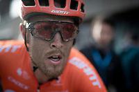 3rd finisher Matteo Trentin's (ITA/CCC) post-race face<br /> <br /> 75th Omloop Het Nieuwsblad 2020 (1.UWT)<br /> Gent to Ninove (BEL): 200km<br /> <br /> ©kramon