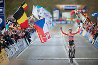Marianne Vos (NLD) is CX World Champion once again<br /> <br /> 2014 UCI cyclo-cross World Championships, Elite Women