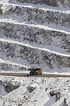 Mining, USA, Ely, Nevada, Open pit copper mine, giant dump trucks, Robinson Nevada Mining Company owned by KGHM International which is owned by foreign owned KGHM Polska Mied? S.A,