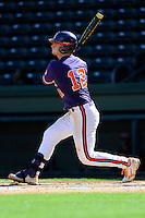 Infielder Jon McGibbon (12) of the Clemson Tigers in a fall Orange & Purple intrasquad scrimmage on November 2, 2013, at Fluor Field at the West End in Greenville, South Carolina. Orange won 7-1.(Tom Priddy/Four Seam Images)