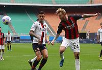 Milano  18-04-2021<br /> Stadio Giuseppe Meazza<br /> Serie A  Tim 2020/21<br /> Milan Genoa<br /> Nella foto:    Simon Kjaer                                  <br /> Antonio Saia Kines Milano