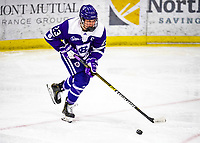 2 February 2020: Holy CrossCrusader Defender Antonia Matzka, a Junior from Moedling, Austria, in third period action against the University of Vermont Catamounts at Gutterson Fieldhouse in Burlington, Vermont. The Lady Cats rallied in the 3rd period to tie the Crusaders 2-2 in NCAA Women's Hockey East play. Mandatory Credit: Ed Wolfstein Photo *** RAW (NEF) Image File Available ***