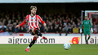 Mathias Jensen of Brentford in action during Brentford vs Middlesbrough, Sky Bet EFL Championship Football at Griffin Park on 8th February 2020