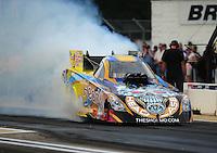 Aug. 19, 2011; Brainerd, MN, USA: NHRA funny car driver Jim Head during qualifying for the Lucas Oil Nationals at Brainerd International Raceway. Mandatory Credit: Mark J. Rebilas-