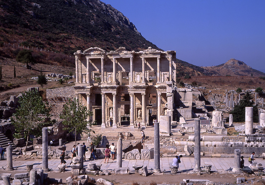 Asian, TUR, Turkey, Aegean, Ephesos, Celsus Library, Roman Library of Celsus ....[ For each utilisation of my images my General Terms and Conditions are mandatory. Usage only against use message and proof. Download of my General Terms and Conditions under http://www.image-box.com or ask for sending. A clearance before usage is necessary...Material is subject to royalties. Each utilisation of my images is subject to a fee in accordance to the present valid MFM-List...Contact | archive@image-box.com | www.image-box.com ]
