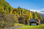 Oesterreich, Kaernten, Nationalpark Hohe Tauern, bei Heiligenblut: Herbststimmung im oberen Moelltal | Austria, Carinthia, High Tauern National Park, near Heiligenblut: autumn scenery at Upper Moell Valley