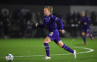 Anderlecht midfielder Charlotte Tisson (20) pictured during a female soccer game between Sporting Charleroi and RSC Anderlecht on the third matchday of the 2020 - 2021 season of Belgian Scooore Womens Super League , friday 2 nd of October 2020  in Marcinelle , Belgium . PHOTO SPORTPIX.BE | SPP | DAVID CATRY