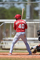 St. Louis Cardinals Kenny Peoples-Walls (40) during a minor league spring training game against the Miami Marlins on March 31, 2015 at the Roger Dean Complex in Jupiter, Florida.  (Mike Janes/Four Seam Images)
