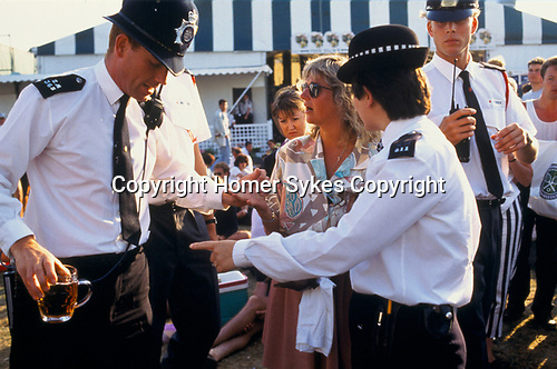 DUE TO UNRULY DRUNK BEHAVIOUR POLICE ASK FEMALE SPECTATOR TO LEAVE THE TOURNAMENT. 29/6/93.,
