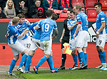 Aberdeen v St Johnstone…29.04.17     SPFL    Pittodrie<br />Craig Thomson celebrates his goal<br />Picture by Graeme Hart.<br />Copyright Perthshire Picture Agency<br />Tel: 01738 623350  Mobile: 07990 594431
