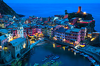 Cinque Terre villages on the Ligurian Sea, in Italy.
