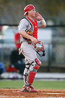 February 21, 2009:  Catcher Dan Burkhart (15) of The Ohio State University during the Big East-Big Ten Challenge at Jack Russell Stadium in Clearwater, FL.  Photo by:  Mike Janes/Four Seam Images