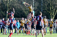 Saturday 4th February 2017 | RBAI vs BALLYCLARE HIGH SCHOOL<br /> <br /> Charlie Cloke during the Ulster Schools' Cup clash between RBAI and Ballyclare High School at  Cranmore Park, Belfast, Northern Ireland.<br /> <br /> Photograph by www.dicksondigital.com