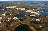 Yamal Peninsula, Russia, 08/07/2010..An aerial view of the Yamal Peninsula between Yarsel and Bovanenkovo,  the start of the Bovanenkovo gas fields.