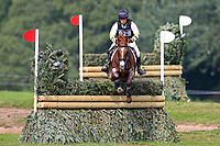 4th September 2021; Bicton Park, East Budleigh Salterton, Budleigh Salterton, United Kingdom: Bicton CCI 5* Equestrian Event; Sam Griffiths riding Gurtera Cher clears fence 5,