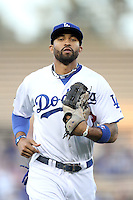 Los Angeles Dodgers outfielder Matt Kemp #27 during a game against the Cincinnati Reds at Dodger Stadium on June 14, 2011 in Los Angeles,California. (Larry Goren/Four Seam Images)