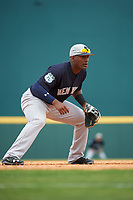 New York Yankees third baseman Miguel Andujar (94) during a Grapefruit League Spring Training game against the Pittsburgh Pirates on March 6, 2017 at LECOM Park in Bradenton, Florida.  Pittsburgh defeated New York 13-1.  (Mike Janes/Four Seam Images)