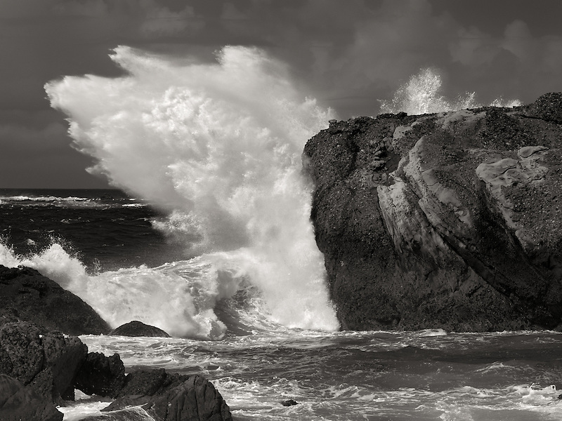 Crashing storm waves. Point Lobos State Reserve. California