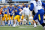 BROOKINGS, SD - MAY 8: Jaxon Janke #10 of the South Dakota State Jackrabbits returns a punt against the Delaware Fightin Blue Hens on May 8, 2021 in Brookings, South Dakota. (Photo by Dave Eggen/Inertia)