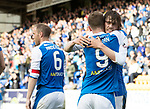 St Johnstone v Hamilton Accies…23.09.17…  McDiarmid Park… SPFL<br />Murray Davidson celebrates his goal with Steven MacLean<br />Picture by Graeme Hart. <br />Copyright Perthshire Picture Agency<br />Tel: 01738 623350  Mobile: 07990 594431