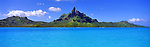 Bora Bora, French Polynesia<br /> <br /> Image taken on large format panoramic 6cm x 17cm transparency. Available for licencing and printing. email us at contact@widescenes.com for pricing.