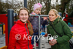 Enjoying a coffee and chat at the playground in the Killarney National park on Friday, l to r: Dorothy, Claudia and Lena Merche