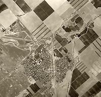 historical aerial photograph Coalinga, Fresno County, California, 1975