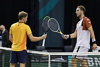 Rotterdam, The Netherlands, 3 march  2021, ABNAMRO World Tennis Tournament, Ahoy, First round match: David Goffin (BEL) Jan-Lennard Struff (GER).<br /> Photo: www.tennisimages.com/henkkoster