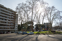 """Prologue, Rome - Lungotevere, Villaggio Olimpico, Flaminio District, 10/03/2020.   <br /> <br /> Rome, 12/03/2020. Documenting Rome under the Italian Government lockdown for the Outbreak of the Coronavirus (SARS-CoV-2 - COVID-19) in Italy. On the evening of the 11 March 2020, the Italian Prime Minister, Giuseppe Conte, signed the March 11th Decree Law """"Step 4 Consolidation of 1 single Protection Zone for the entire national territory"""" (1.). The further urgent measures were taken """"in order to counter and contain the spread of the COVID-19 virus"""" on the same day when the WHO (World Health Organization, OMS in Italian) declared the coronavirus COVID-19 as a pandemic (2.).<br /> ISTAT (Italian Institute of Statistics) estimates that in Italy there are 50,724 homeless people. In Rome, around 20,000 people in fragile condition have asked for support. Moreover, there are 40,000 people who live in a state of housing emergency in Rome's municipality.<br /> March 11th Decree Law (1.): «[…] Retail commercial activities are suspended, with the exception of the food and basic necessities activities […] Newsagents, tobacconists, pharmacies and parapharmacies remain open. In any case, the interpersonal safety distance of one meter must be guaranteed. The activities of catering services (including bars, pubs, restaurants, ice cream shops, patisseries) are suspended […] Banking, financial and insurance services as well as the agricultural, livestock and agri-food processing sector, including the supply chains that supply goods and services, are guaranteed, […] The President of the Region can arrange the programming of the service provided by local public transport companies […]».<br /> Updates: on the 12.03.20 (6:00PM) in Italy there 14.955 positive cases; 1,439 patients have recovered; 1,266 died.<br /> <br /> Footnotes & Links:<br /> Info about COVID-19 in Italy: http://bit.do/fzRVu (ITA) - http://bit.do/fzRV5 (ENG)<br /> 1. March 11th Decree Law http://bit.do/fzREX (ITA) - http:/"""