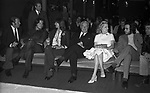 MANUEL, CHRISTIAN E VITTORIO DE SICA CON ELSA MARTINELLI E MARIA MERCADER E FRANCO FABRIZI<br /> SERATA TEATRO CARLINO PER PREMIAZIONE VITTORIO DE SICA ROMA 1970