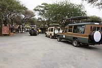 Tanzania. Vehicles Lining Up to Enter Tarangire National Park.