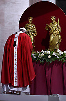 Pope Francis Solemnity of St Peter and Paul in St.Peter's square at the Vatican.June 29, 2017.