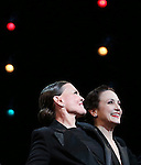Ann Reinking and Bebe Neuwirth during the landmark performance of 'Chicago' as it becomes the 2nd longest show in Broadway History at the Ambassador Theatre on November 23, 2014 in New York City.