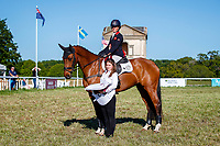 GBR-Rosalind Canter rides Izilot DHI during the Prizegiving for the CCI-l 3* Section C. Final-1st. 2021 GBR-Saracen Horse Feeds Houghton International Horse Trials. Hougton Hall. Norfolk. England. Sunday 30 May 2021. Copyright Photo: Libby Law Photography