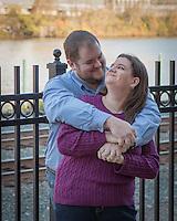 Sarah & Maurice's engagement session at Station Squarek iin Pittsburgh, PA on November 9, 2014.