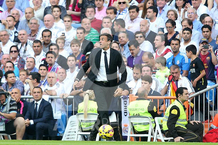 FC Barcelona's coach Luis Enrique Martinez during La Liga match.October 25,2014. (ALTERPHOTOS/Acero)