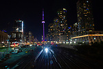 August 19, 2021, TORONTO / Niagara FallsThe CN Tower, The Toronto Sign and Niagara Falls turned purple tonight in support of the #WeThe15 Paralympics campaign, a new human rights movement representing the world's 1.2 billion persons with disabilities.