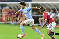 Houston, TX - Thursday July 20, 2017: Leroy Sané during a match between Manchester United and Manchester City in the 2017 International Champions Cup at NRG Stadium.