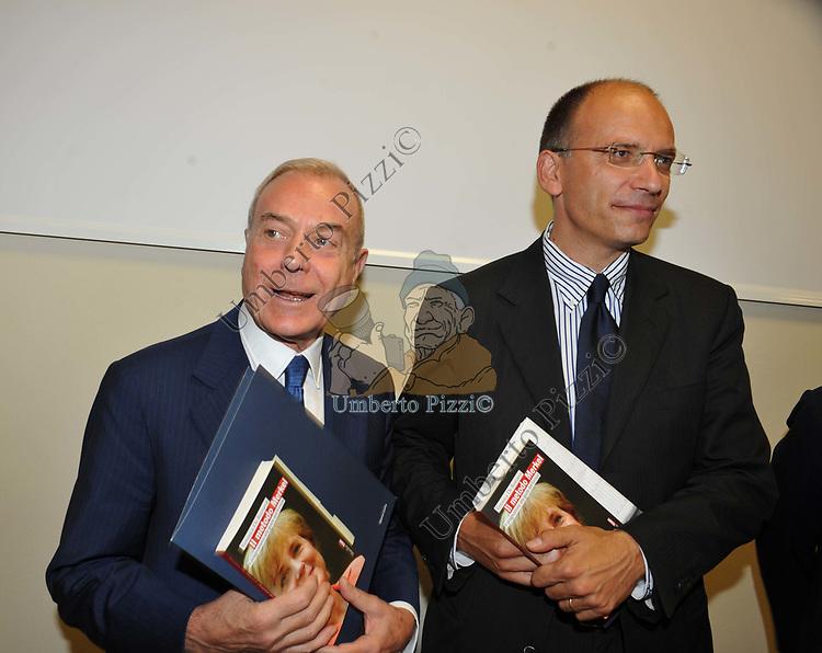 """GIANNI ED ENRICO LETTA<br /> PRESENTAZIONE LIBRO """"IL METODO MERKEL"""" DI VERONICA DE ROMANIS ROMA 2009"""