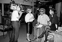 May 26, 1987 File Photo - Montreal, Quebec, CANADA -  Luc Plamondon in Musique Plus studio