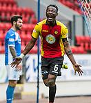 St Johnstone v Partick Thistle…29.10.16..  McDiarmid Park   SPFL<br />Abdul Osman celebrates his goal<br />Picture by Graeme Hart.<br />Copyright Perthshire Picture Agency<br />Tel: 01738 623350  Mobile: 07990 594431
