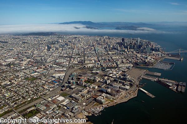 Aerial photograph of Mission Bay, San Francisco, California