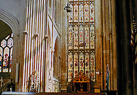 South Transept of Bath Abbey, a parish church of the Church of England and former Benedictine monastery in Bath, England. 1500-1539. Major restoration work was carried out by Sir George Gilbert Scott in the 1860s.