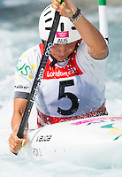 02 AUG 2012 - CHESHUNT, GBR - Jessica Fox (AUS) of Australia makes her semi final run during the women's Kayak Single (K1) during the London 2012 Olympic Games event at Lee Valley White Water Centre, Cheshunt, Great Britain (PHOTO (C) 2012 NIGEL FARROW)