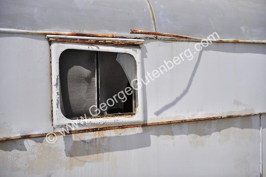 Abandoned trailers at the Salton Sea