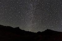 Wetterhorn and Matterhorn by starlight