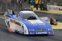 May 10, 2013; Commerce, GA, USA: NHRA funny car driver Jack Beckman during qualifying for the Southern Nationals at Atlanta Dragway. Mandatory Credit: Mark J. Rebilas-