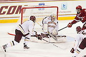 Ian McCoshen (BC - 3), Brad Barone (BC - 29), Tyler Barnes (Wisconsin - 7) - The Boston College Eagles defeated the visiting University of Wisconsin Badgers 9-2 on Friday, October 18, 2013, at Kelley Rink in Conte Forum in Chestnut Hill, Massachusetts.