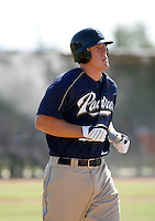 Allan Dykstra / San Diego Padres 2008 Instructional League..Photo by:  Bill Mitchell/Four Seam Images